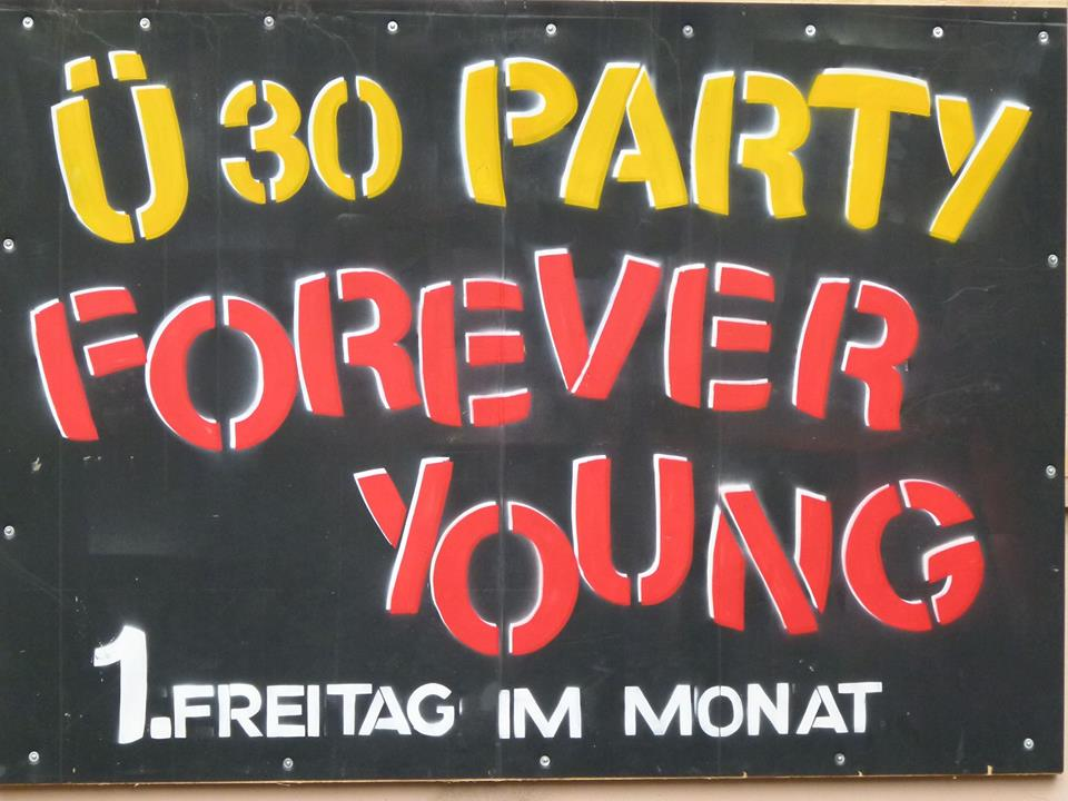 Freitag, 07.11.: Forever Young - Die Ü30-Party im club alpha